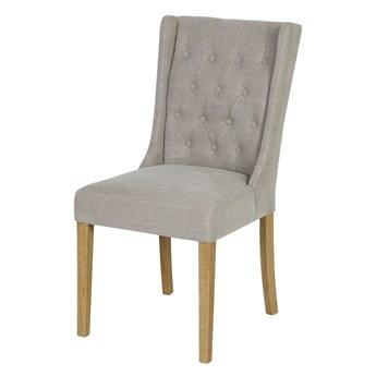 SELSEY Krzesło tapicerowane pikowane Bernice