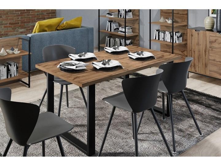 SELSEY Stół rozkładany Lameca 135-185x85 cm dąb wotan Drewno Płyta MDF Długość 135 cm Wysokość 74 cm Długość 185 cm Metal Pomieszczenie Stoły do jadalni