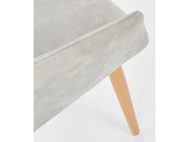 SELSEY Krzesło tapicerowane Moita ecoskóra szare Metal Skóra ekologiczna Tkanina Z podłokietnikiem Drewno Pikowane Tworzywo sztuczne Stal Styl Nowoczesny