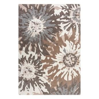 SELSEY Dywan syntetyczny Soft Floral z motywem kwiatów stonowane kolory