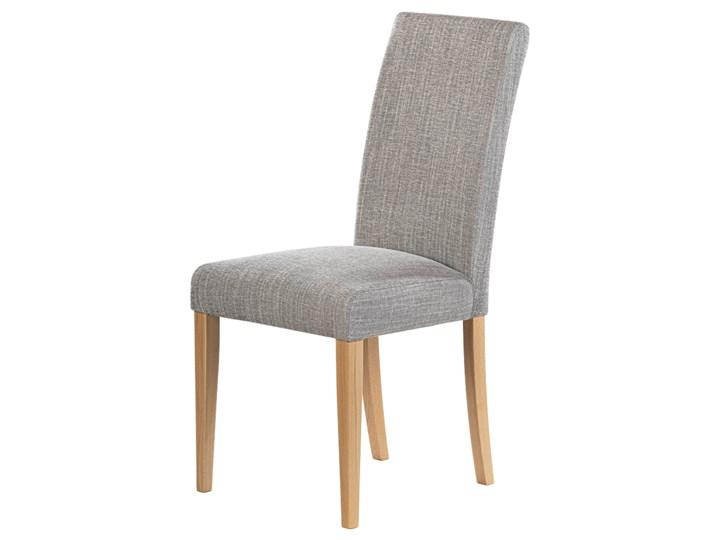SELSEY Krzesło tapicerowane Aterin jasnoszare w tkaninie łatwoczyszczącej na bukowej podstawie