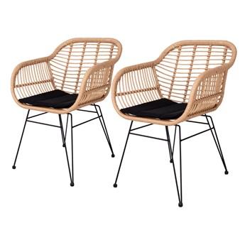 SELSEY Zestaw dwóch krzeseł Hacive naturalne