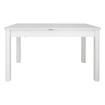 SELSEY Stół rozkładany Eagor 125-165x80 cm zaokrąglonymi rogami biel alpejska