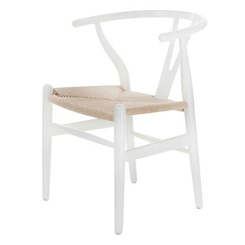 SELSEY Krzesło Wicker białe