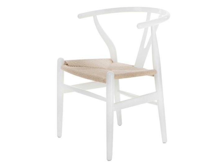 SELSEY Krzesło Wicker białe Drewno Tradycyjne Kolor Biały Pomieszczenie Jadalnia