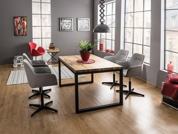 SELSEY Stół Pazmer 120x80 cm z litego drewna z czarną podstawą Drewno Wysokość 78 cm Metal Długość 120 cm  Pomieszczenie Stoły do salonu