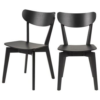 SELSEY Zestaw dwóch krzeseł Gemirro czarne