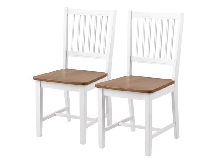 SELSEY Zestaw dwóch krzeseł Barimo białe Drewno Tradycyjne Styl Nowoczesny