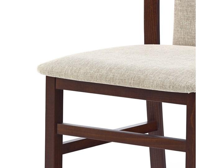 SELSEY Krzesło Dekani ciemny orzech Tkanina Kategoria Krzesła kuchenne Tapicerowane Drewno Kolor Czarny