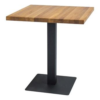 SELSEY Stół Divock 80x80 cm z litego drewna dębowego