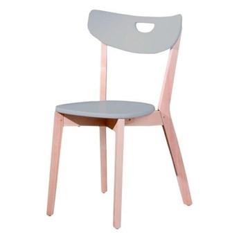 SELSEY Krzesło Batino szare z wyprofilowanym oparciem