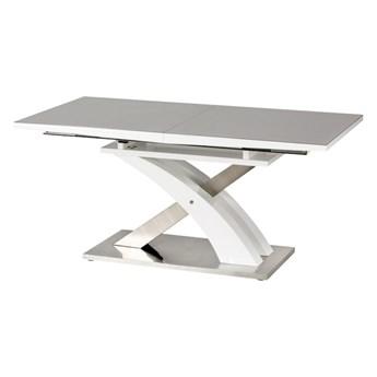 SELSEY Stół rozkładany Reinosa 160-220x90 cm popielaty ze szklanym blatem
