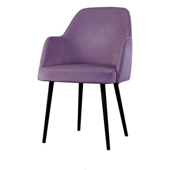 SELSEY Krzesło tapicerowane Kebbi fioletowe