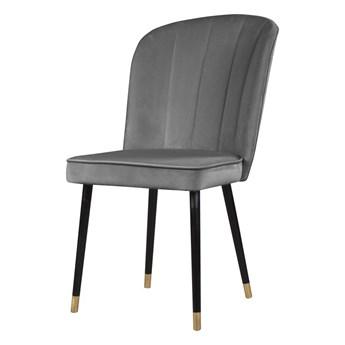 SELSEY Krzesło tapicerowane Guavra szare