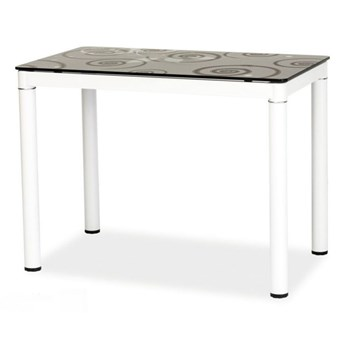 SELSEY Stół Skast czarny na białej podstawie 100x60 cm
