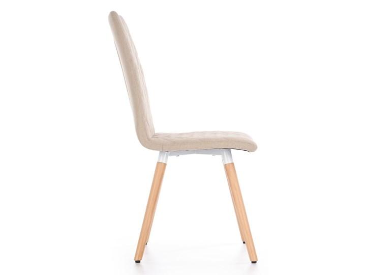 SELSEY Krzesło tapicerowane Jaruge beżowe Tkanina Drewno Pikowane Kolor Beżowy