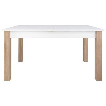 SELSEY Stół rozkładany Eagor 140-190x84 cm biel alpejska - dąb sonoma