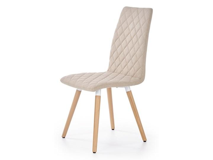SELSEY Krzesło tapicerowane Jaruge beżowe Tkanina Kolor Beżowy Pikowane Drewno Styl Nowoczesny