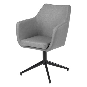 SELSEY Krzesło tapicerowane Marcelio szare z funkcją auto-return