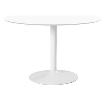 SELSEY Stół do jadalni okrągły Balsamita średnica 110 cm biały