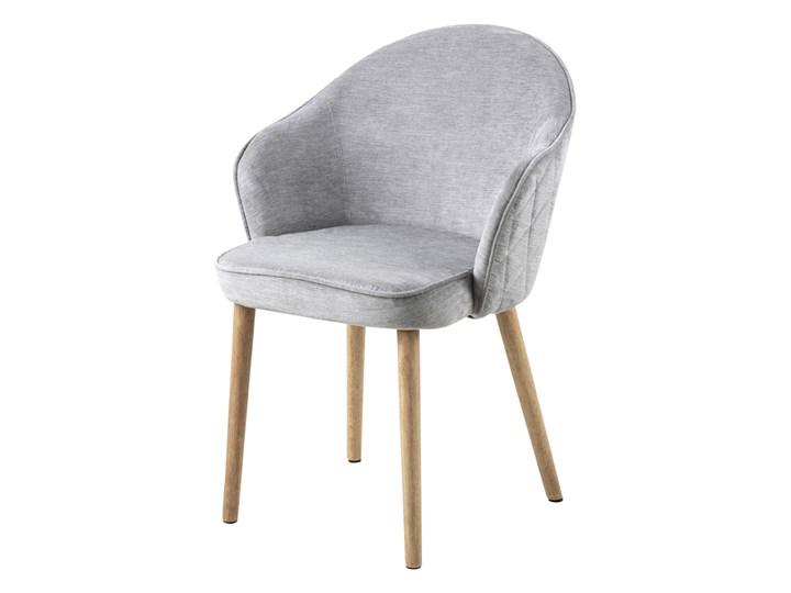 SELSEY Krzesło tapicerowane Evanthen szare z pikowaniem karo na drewnianych nóżkach Drewno Kategoria Krzesła kuchenne Pikowane Tkanina Krzesło inspirowane Z podłokietnikiem Styl Nowoczesny
