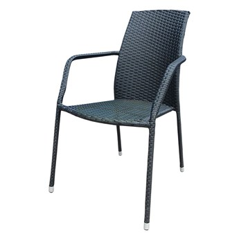 SELSEY Krzesło ogrodowe Sokoto czarne