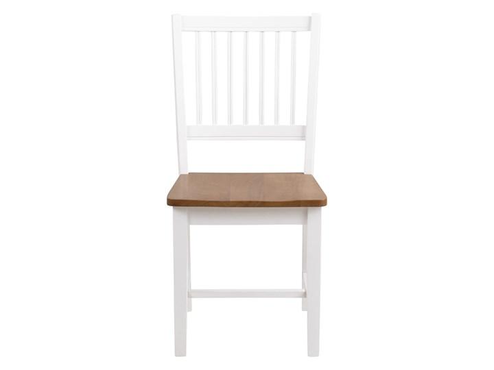 SELSEY Zestaw dwóch krzeseł Barimo białe Tradycyjne Styl Nowoczesny Drewno Kolor Biały