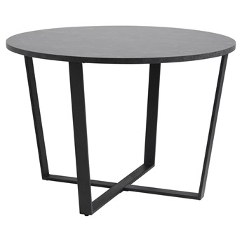 SELSEY Stół Adhafera czarny średnica 110 cm