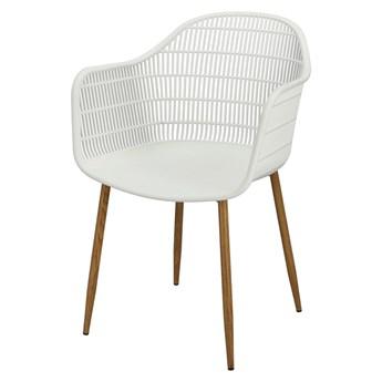 SELSEY Krzesło z tworzywa Rannevig białe