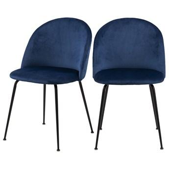 SELSEY Zestaw dwóch krzeseł Pulasan granatowe