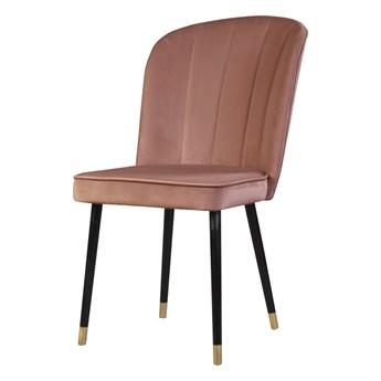 SELSEY Krzesło tapicerowane Guavra różowe