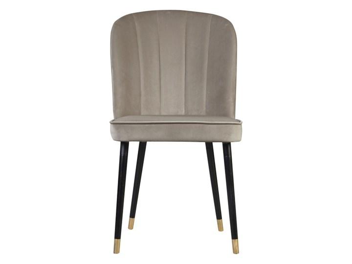 SELSEY Krzesło tapicerowane Guavra kremowe Tkanina Wysokość 89 cm Drewno Pomieszczenie Jadalnia