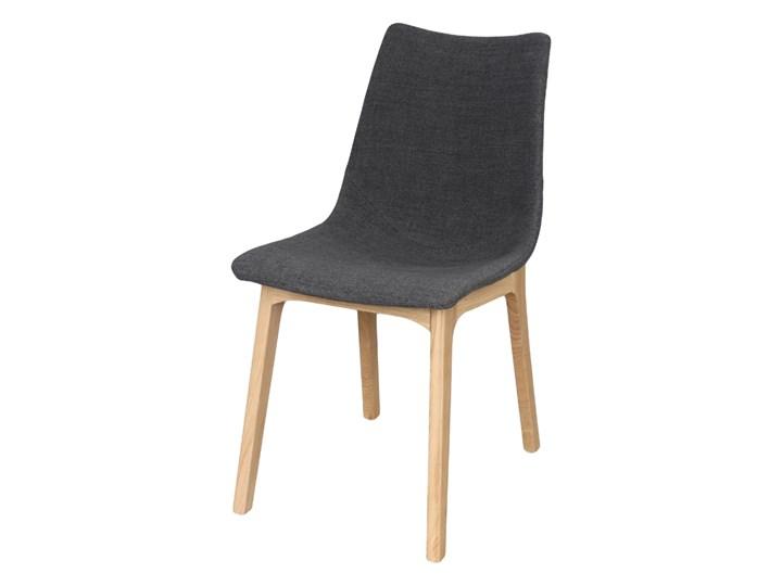 SELSEY Krzesło tapicerowane Chervil na drewnianych nóżkach Tkanina Płyta MDF Drewno Styl Industrialny