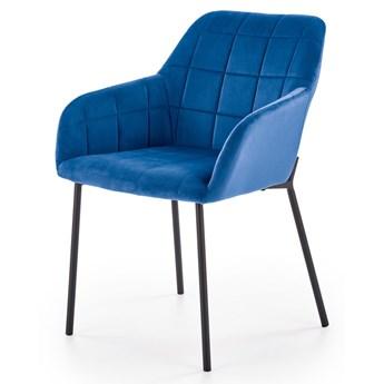 SELSEY Krzesło tapicerowane Billberry niebieskie