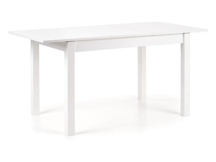 SELSEY Stół rozkładany Veiga 118-158x75 cm biały Kształt blatu Prostokątny Długość 158 cm  Płyta MDF Wysokość 76 cm Styl Skandynawski
