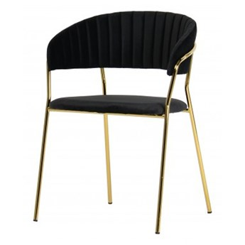 SELSEY Krzesło tapicerowane Abigan czarne