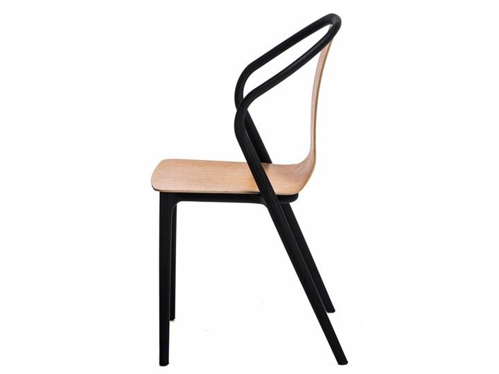 SELSEY Krzesło Bella naturalne Płyta MDF Drewno Tworzywo sztuczne Z podłokietnikiem Pomieszczenie Jadalnia Pomieszczenie Biuro i pracownia