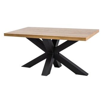 SELSEY Stół Stavros 150x90 cm z litego drewna dębowego