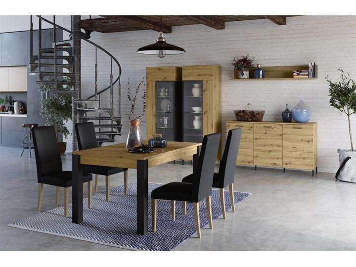 SELSEY Stół rozkładany Roalds 140-210x90 cm Długość 140 cm  Drewno Długość 210 cm  Płyta MDF Wysokość 76 cm Styl Industrialny