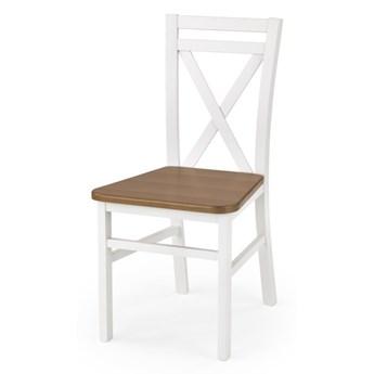 SELSEY Krzesło Milares białe - olcha