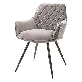 SELSEY Krzesło tapicerowane Linesi szary