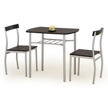 SELSEY Stół z krzesłami Parra wenge