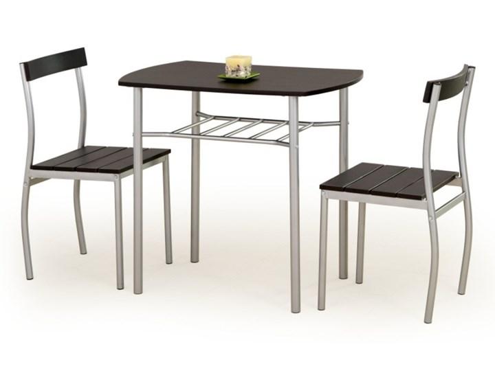SELSEY Stół z krzesłami Parra wenge Kolor Czarny