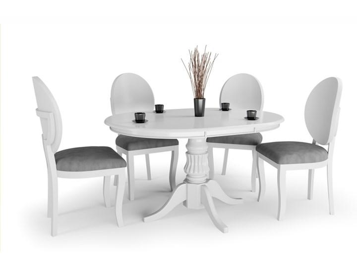 SELSEY Stół rozkładany Valle 90-124x90 cm biały Wysokość 75 cm Drewno Długość 124 cm Płyta MDF Styl Rustykalny
