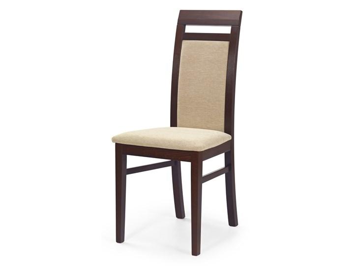 SELSEY Krzesło Kadiana ciemny orzech - beż Kategoria Krzesła kuchenne Tkanina Drewno Tapicerowane Styl Klasyczny