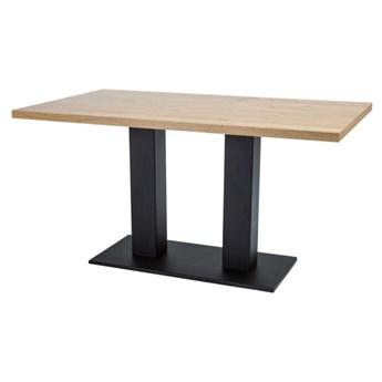 SELSEY Stół Prizna 120x80 cm z litego drewna dębowego