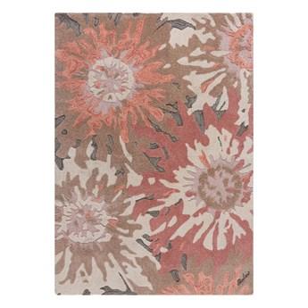 SELSEY Dywan syntetyczny Soft Floral z motywem kwiatów terracotta