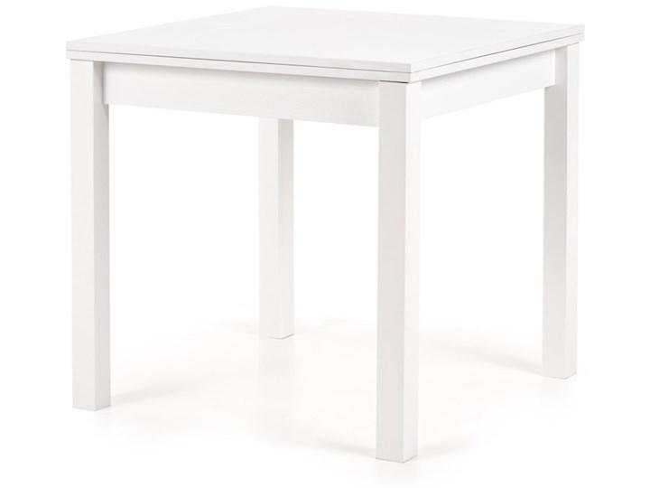 SELSEY Stół rozkładany Lea 80-160x80 cm biały Płyta MDF Wysokość 76 cm Długość 160 cm  Kształt blatu Kwadratowy Rozkładanie Rozkładane