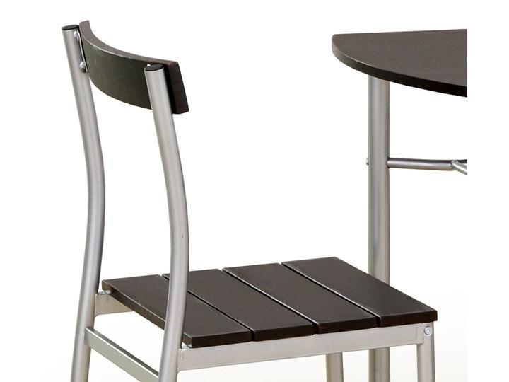 SELSEY Stół z krzesłami Parra wenge Kolor Czarny Kategoria Stoły z krzesłami