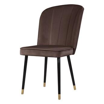 SELSEY Krzesło tapicerowane Guavra brązowe